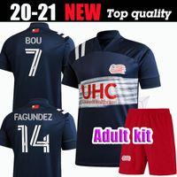 2020 MLS Revolution Adulto Kit de futebol Jerseys Bou 7 Buksa 9 Gil 22 Fagundez 14 Penilla 70 Bunbury 10 20 21 Jersey Football Shirt