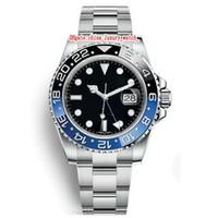 15 couleur Hommes montres 40mm GMT 116710 Batman Montre automatique Master 2 lunette en céramique saphir de cristal montres hommes regarder 2813 montre de mouvement