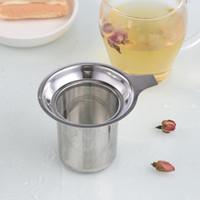 Reutilizable colador de malla de acero inoxidable 304 de bloqueo Copa de hierbas de té Filtro infusor Spice Kitchen Bar Productos 7.5x8.8cm LXL730Q
