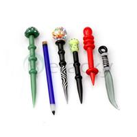 Glas Dabber Werkzeug Blasen-Kappe Bleistift Pilzmesser Dabber Heady Glas Dabber Werkzeug Raucherzubehör Glas Bohrinseln Werkzeuge für Öl und Wachs
