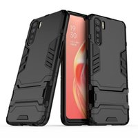 Pour robuste Oppo A91 Case simple stand Combo hybride Armure Support Housse de protection d'impact Holster pour Oppo A91