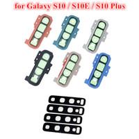 100шт задняя камера Стекло рамка рамка Крышка для Samsung Galaxy S10 Plus S10e Задняя крышка объектива камеры держатель с наклейки клей Замена