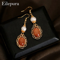 Eilepura Handmade Fresh Water White Pearl European Design Dr...