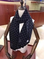 2020 High-quality Fashionable autumn and winter brand wool scarf men scarf men's fashion stripe scarf knitted soft cashmere