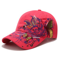 2019 sequin embroidered baseball cap butterfly embroidered d...