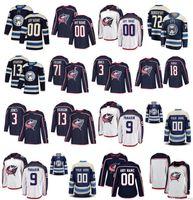 Columbus Blue Jackets Jersey 72 Sergei Bobrovsky 13 Cam Atkinson 3 Seth Jones Josh Anderson Pierre-Luc Dubois Duchene cosido Hockey