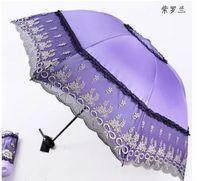 El nuevo paraguas de sombrilla Princess bordado, el arco de encaje anti-ultravioleta, el paraguas de protección solar, una variedad de opciones de color,