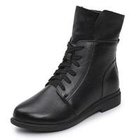 CALIENTE 2019 más nuevos zapatos de mujer de primavera elegante salvaje cómodo de encaje botas de las mujeres zapatos casuales zapatillas de deporte zapatos de cuero genuino mujer botas de montar