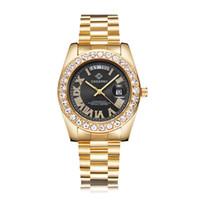 Erkekler Cagarny Sıcak Moda Kadın Kuvars Saatler Diamonds El saatler Su geçirmez Altın relogio masculino damla nakliye için Rol Hip Hop İzle