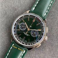 Lujry Watch GF Premier B01 Chronograph- 42 British Racing Green Dial AB0118A11L1X1 ETA A7750 Cronógrafo Silver Silver Sport Watches