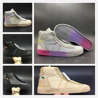 Hot! New Blazers Shoes Orange Black And Grey Rainbow Sole Sp...