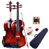 New GV100 4/4 Violina de madeira maciça de alta qualidade com suporte ao ombro Sintonizador de quatro tubos adequado para iniciantes e jogador profissional
