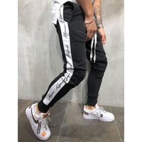 Letter printed Sport Pants Men Jogging Pants Gym Hombre Mens...