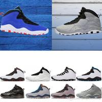 buy popular c9c6e e698b Zapatillas de baloncesto para hombre 10 Tinker Cemento 10 s zapatos para  hombre Bobcats Gris chicage