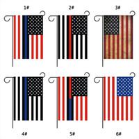 30 * 45cm amerikanische Flagge Blue Line USA Police Land Flaggen-Partei-Dekoration Blue Line USA Flagge Schwarz Weiß-Rot-Streifen Garten Flagge VT0631