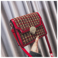 China Brand Plaid bags Shoulder Cross body Women Purse Fashi...