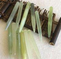 Hot Saúde Beleza Natural Jade Stone Massage vara Pé Massager Corpo Aliviar Dor Muscular Relaxar Ferramenta Rose Quartz Acupoint vara