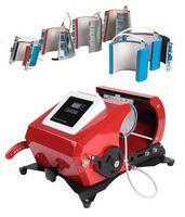 6 في 1 الصغيرة Q الخبز نقل آلة كأس كأس الرقمية القدح الحرارة الصحافة آلة السيراميك نقل كأس القدح الحرارة آلة الطباعة