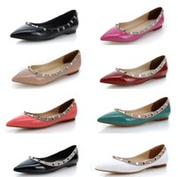 Designer New Style Flats Nude Shoes Genuine Leather Ballerin...