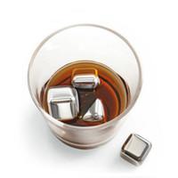 Nuove 4PCS nuovi Whisky acciaio inossidabile pietre del whisky cubi di ghiaccio più freddo di ghiaccio per la vendita regalo vino Whisky Beer Bar domestica da sposa a caldo