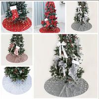 Sapin de Noël Jupe de Noël Bas de neige imprimé Jupes fête de Noël Arbre de Noël Jupe Fournitures d'ornement de vacances Décoration WY112Q-2