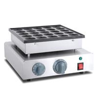 ÜCRETSİZ GÖNDERİM Yapışmaz Elektrikli Mini Poffertjes Izgara Makinesi Waffle Makinesi Hollandalı Poffertjes Krep Yapma Makinası Baker Plakalı