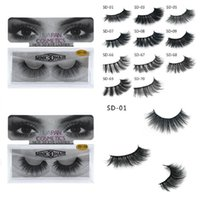 Nueva marca HUAPAN 3D pestañas de visón pestañas Messy Eye Lash Extension Sexy Eyelash Full Strip Eye Lashes 3001324
