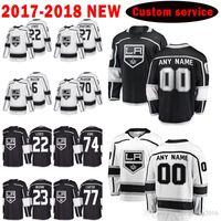 Top Mens Los Angeles Kings Custom 2017-2018 Neue 22 Trevor Lewis 27 Alec Martinez Jersey 6 Jake Muzzin 70 Tanner Pearson Herrenhockey-Trikots