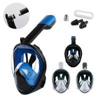 2019 nova máscara de mergulho subaquática máscara de mergulho anti nevoeiro rosto completo snorkeling adulto crianças natação equipamento de mergulho snorkel