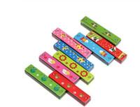 Красочные Гармоника 16 отверстий Тремоло гармоника Дети Музыкальный инструмент образования Игрушка подарков для детей
