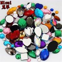 24g Sobre 300pcs Forma Mixed prego Tamanhos Acrílico Pedrinhas 3D Art Pedras de cristal não Hotfix Flatback Artesanato DIY Detalhes no MC38