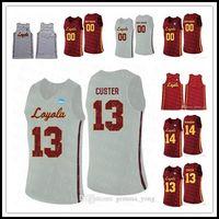 Billig benutzerdefinierte Loyola Chicago Ramblers College Basketball 13 Clayton Custer 25 Cameron Krutwig Ingram Jackson Marques genäht Jerseys Heißer Verkauf