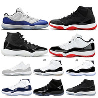 Nike Air Jordan 11 Mens Trainers 11 Bred Concord Gamma Blue Gym Red Space Jam Fashion 4 Cemento Glow Green Toro Bravo Cavs Donna Uomo Scarpe da basket