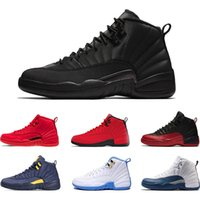Zapatillas de baloncesto para hombre 12 s Winterized WNTR Gym Red Michigan Bordeaux 12 blanco negro The Master Flu Game taxi zapatillas deportivas de deporte de tamaño 7-13