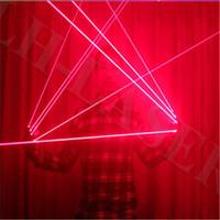 Einzelne rot / grüne / blaue Farblaser-Laser-Beleuchtungshandschuh für Tänzerin und lustige Party / Chrismas Handschuhe Lichtgeräte-System