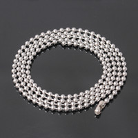 Stainless Steel Finished Chains Necklace Ball Chain with Findings Bundle Silver Jewelry Bead Necklaces Men Accessories