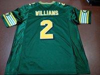 Benutzerdefinierte Männer Jugend Frauen Jahrgang Edmonton Eskimos # 2 Gizmo Williams Fußball-Jersey-Größe s-4XL oder benutzerdefinierten beliebigen Namen oder Nummer Jersey