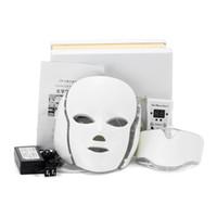 Accueil Utilisez la luminothérapie rouge PDT Beauty Therapy 7 couleurs Masque LED avec le visage du cou pour Rajeunissement de la peau Traitement de l'acné DHL Livraison gratuite