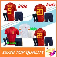 Kids 2020 Europen كأس إسبانيا Soccer Jersey Kit Socks Ramos Isco Pique Sergio M. Asensio Morata Kids Spain Football Cheatss