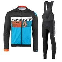 사이클링 의류 Scott Team 도로 자전거 착용 레이싱 옷 빠른 건조한 남자 사이클링 저지 긴 소매 자전거 유니폼 Y032610