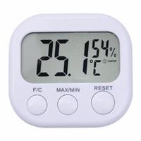Digital LCD Indoor Thermometer Hygrometer Messgeräte Uhr Temperatur- und Feuchtigkeitsmessgerät