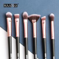 6pcs / set Nylonfaser Make-up-Pinsel-Set Professionelle Gesichts-Make-up-Pinsel für Blush Lidschatten Stiftung TSLM1