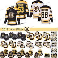 Homens 88 David Pastrnak Boston Bruins Hóquei Jerseys 63 Brad Marchand 37 Patrice Bergeron 4 Bobby Orr 33 ZDo Chara Jersey