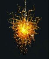 Lampade lampada a sospensione oro color oro goldlight moderno mano soffiato lampadario in vetro salotto Pendnat luce