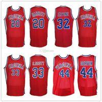 Mike Barrett 20 Charlie Scott 33 Julius Dr. J Erving 32 George Gervin 44 Virginia skratische Basketball-Jerseys Herren benutzerdefinierte Nummername