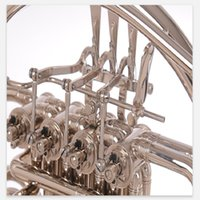 Yeni Geliş Bach Bölünmüş Korno dört anahtar b / f sesi nikel Ağızlık Case Müzikal enstrüman kaplama