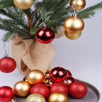 24X 3/4 CM Weihnachtskugel-Anhänger Dekorative hängende Kugeln Weihnachtsbaum-Dekoration Bälle Weihnachten Zierde für Haus