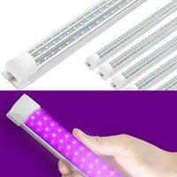 UV LED Blacklight Luzes UVA UVA Tube T8 D Em Forma de Luminárias Lâmpada para Bar Party Club DJ UV Art Raios Esterilizador Cola Luz