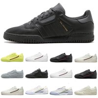 PowerPhase Calabasas Continental 80 Leather Rascal Casual Shoes Kanye West Gray Olimpiadi nucleo nero Triple modo delle donne White Men Shoe 36-44