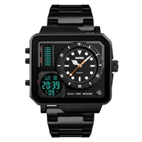 Top Mens Watches Brand Sport Digital Quartz Watch Men Stainl...
